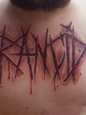 Rancid Logo Skull - Tattoo by Travis Broyles - Unknown Tattoo Co. - Everett Washington Tattoo Shop